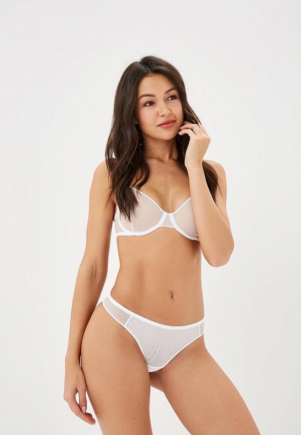 Бюстгальтер LA DEA lingerie & homewear LA DEA lingerie & homewear MP002XW1GWUV sexy white lace hem lingerie with no falsies