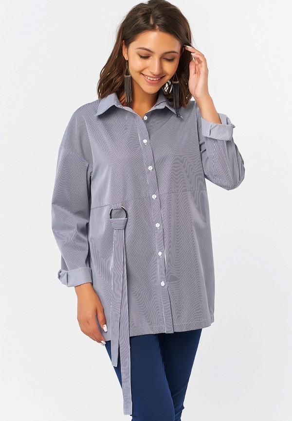 женская рубашка с длинным рукавом fly, синяя