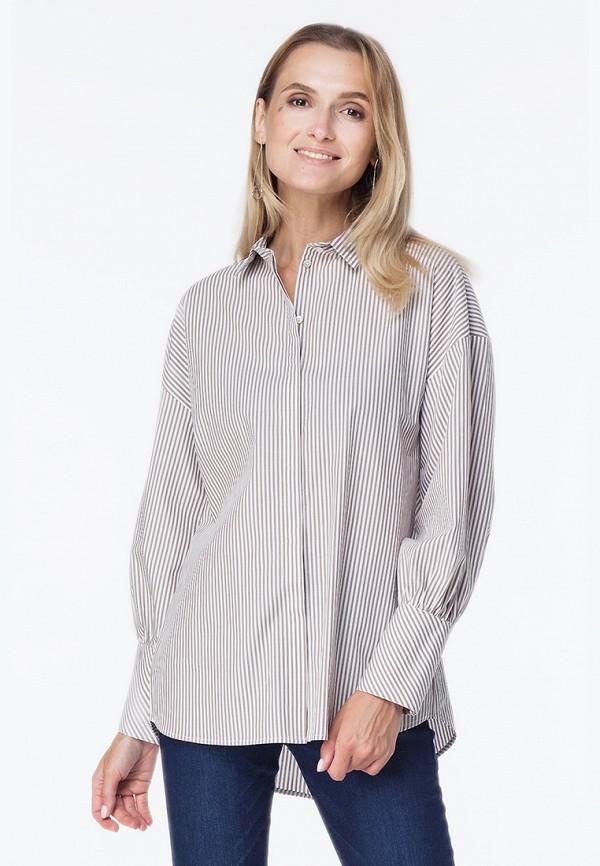 женская рубашка vilatte, бежевая