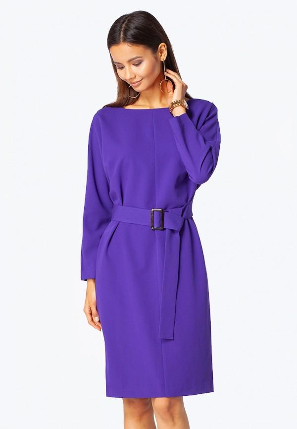 женское платье миди vilatte, фиолетовое