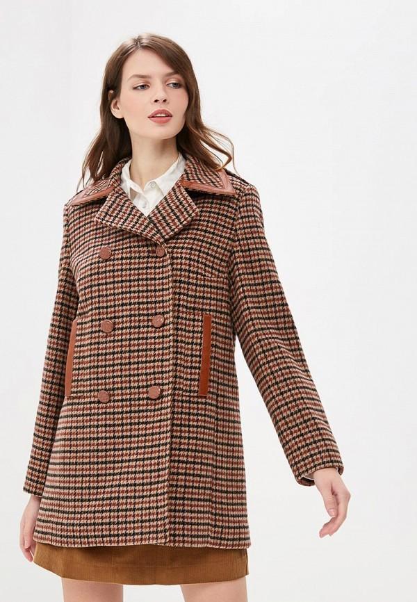 женское пальто madeleine, коричневое