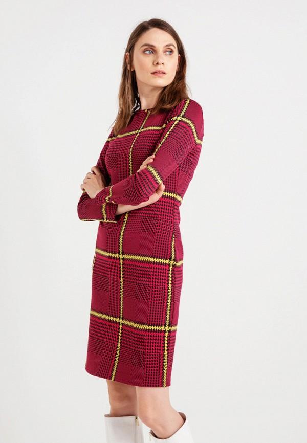 женское повседневные платье bgn, красное