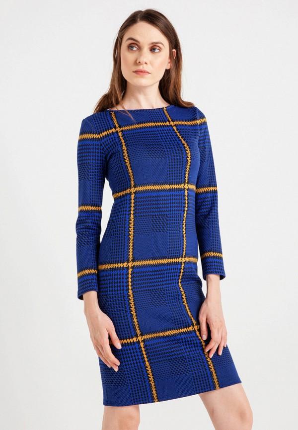 женское повседневные платье bgn, синее