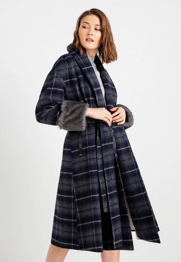 женское пальто bgn, серое