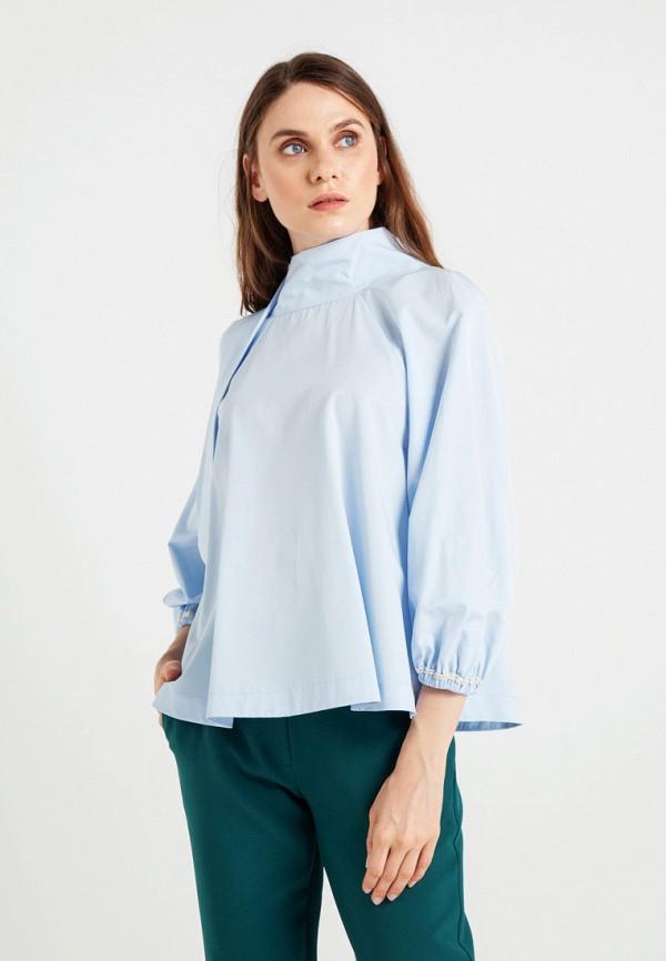женская блузка bgn, голубая