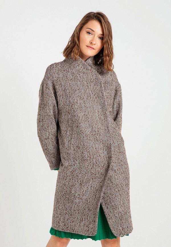 женское пальто bgn, коричневое
