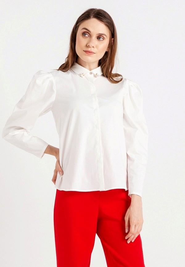 женская рубашка с длинным рукавом bgn, белая