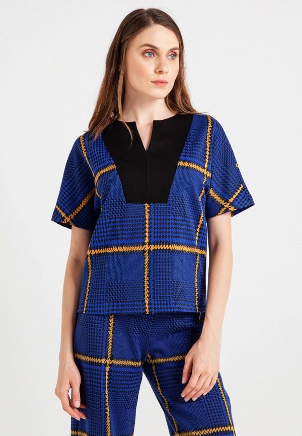 женская блузка bgn, синяя