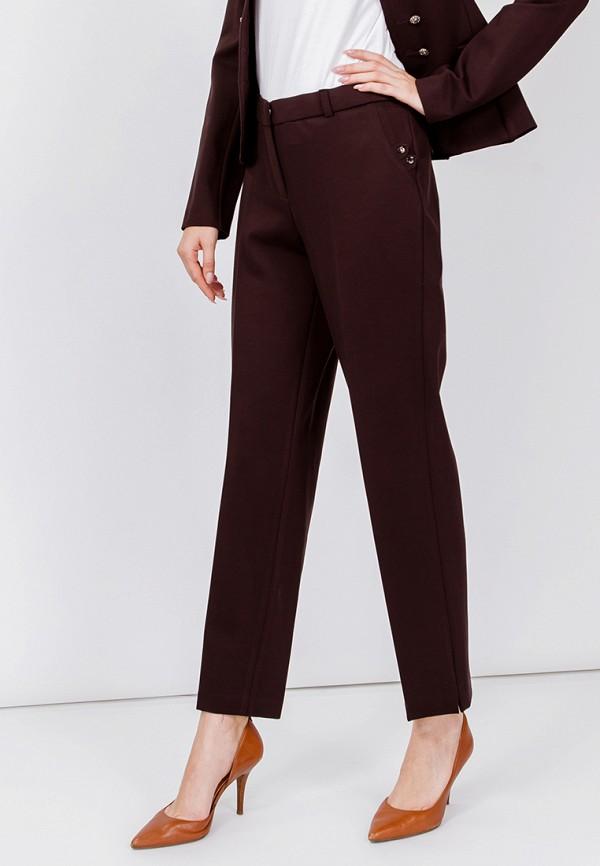 женские классические брюки мадам т, коричневые
