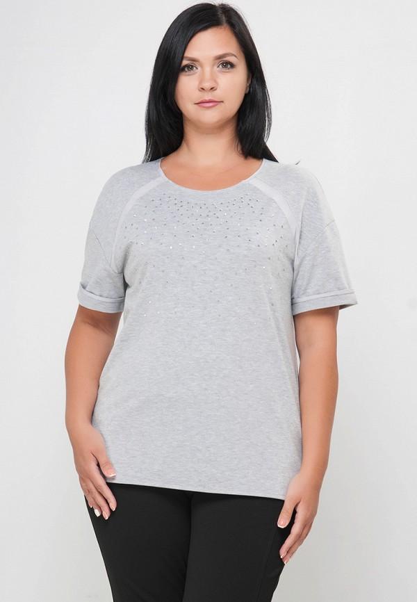 женская футболка limonti, серая