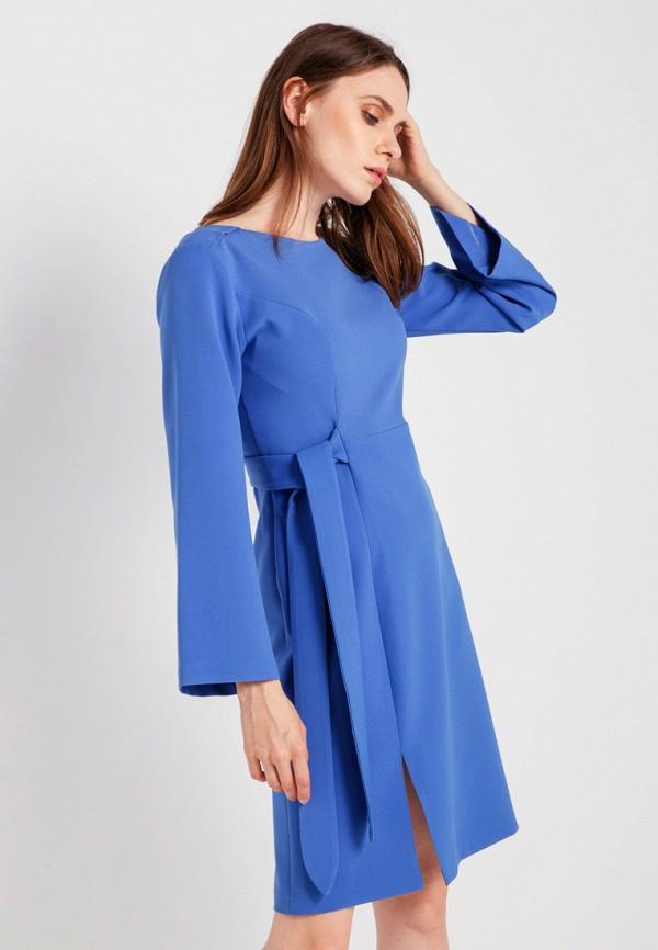 женское повседневные платье bgn, голубое