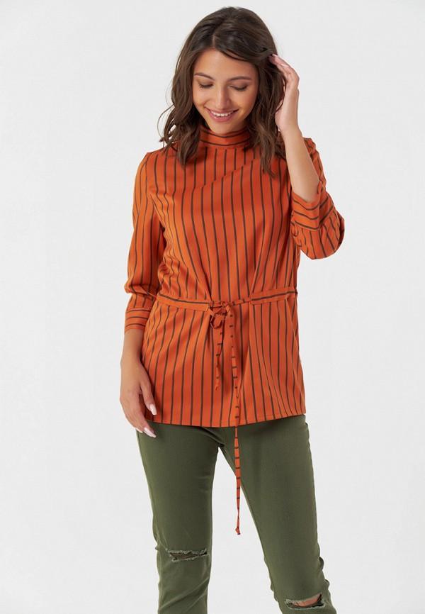 женская блузка fly, оранжевая