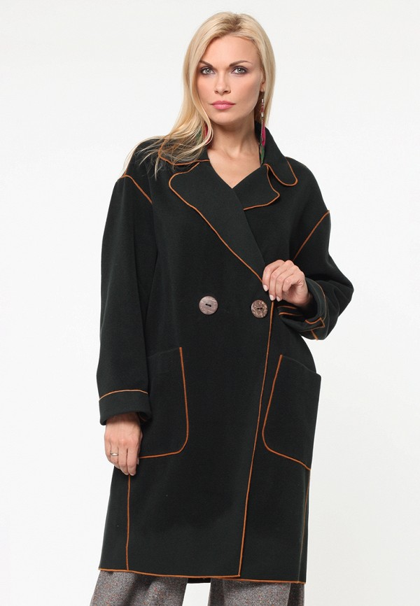 женское пальто kata binska, зеленое