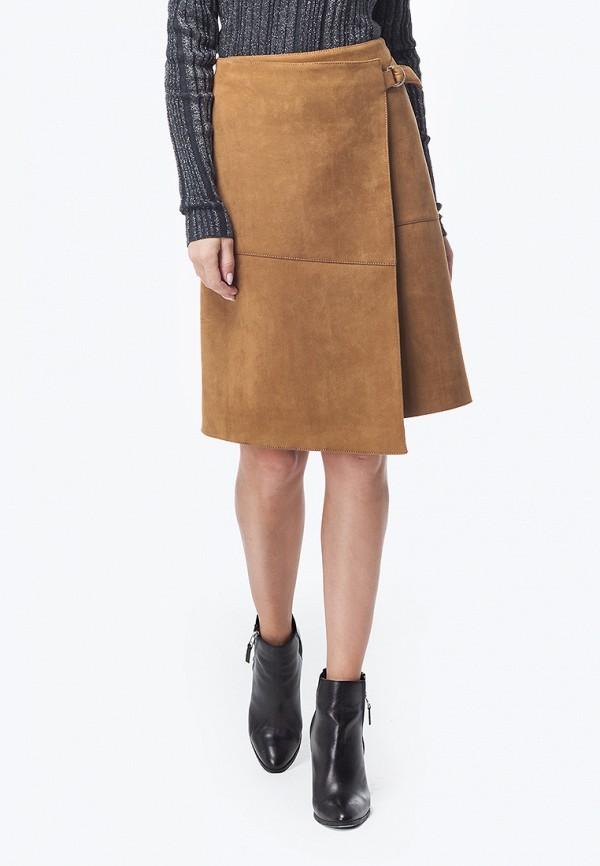 женская прямые юбка vilatte, коричневая