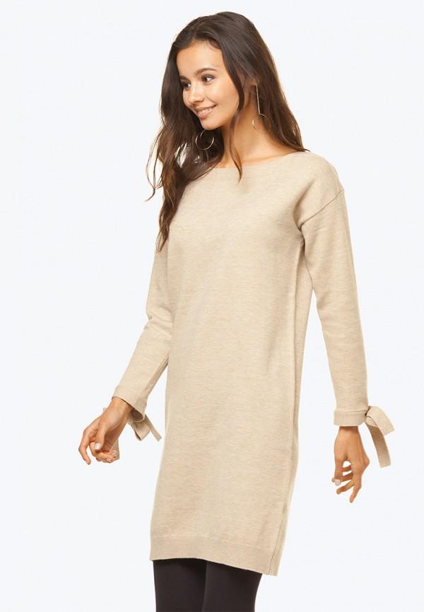 женское платье мини vilatte, бежевое