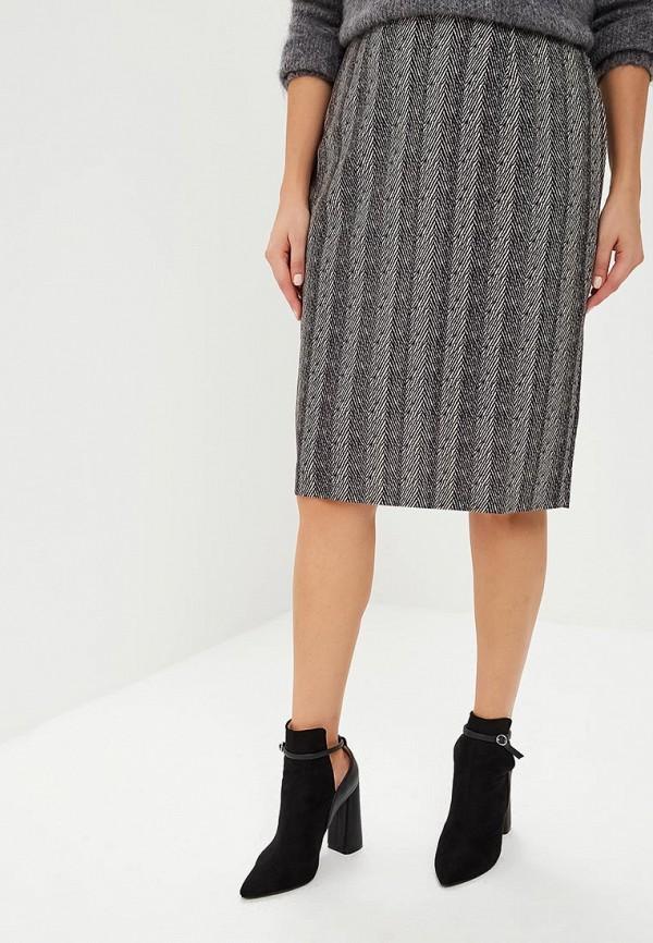 женская прямые юбка virgi style, серая