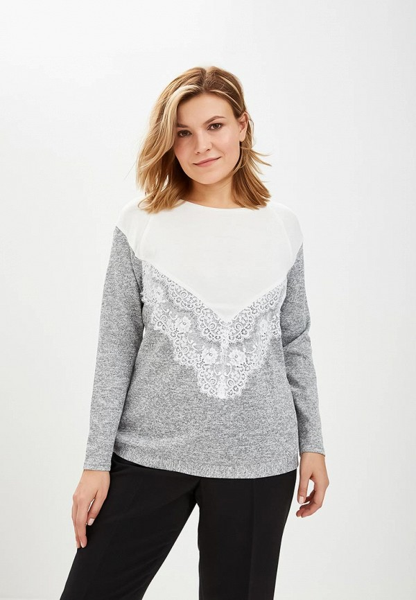 женский джемпер virgi style, серый