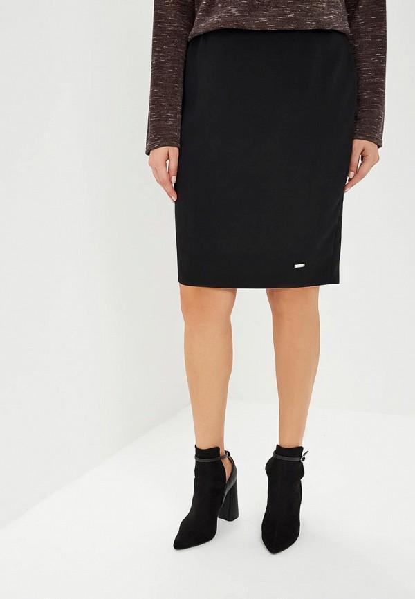 женская прямые юбка virgi style, черная