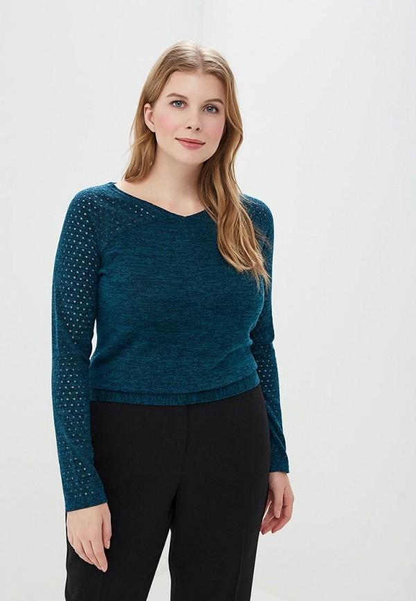 женский пуловер virgi style, зеленый