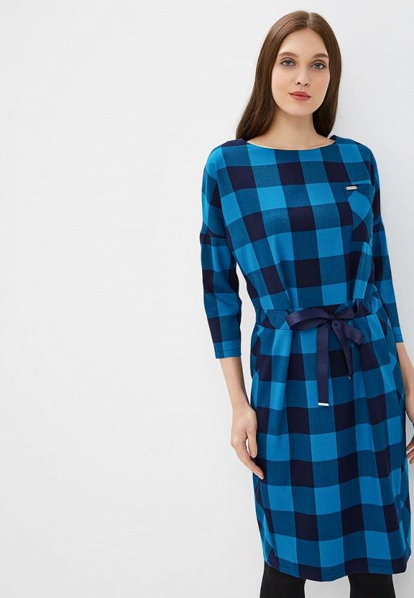 женское повседневные платье virgi style, голубое
