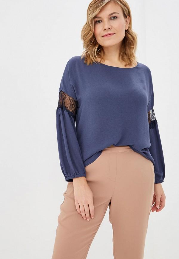 женская блузка virgi style, синяя