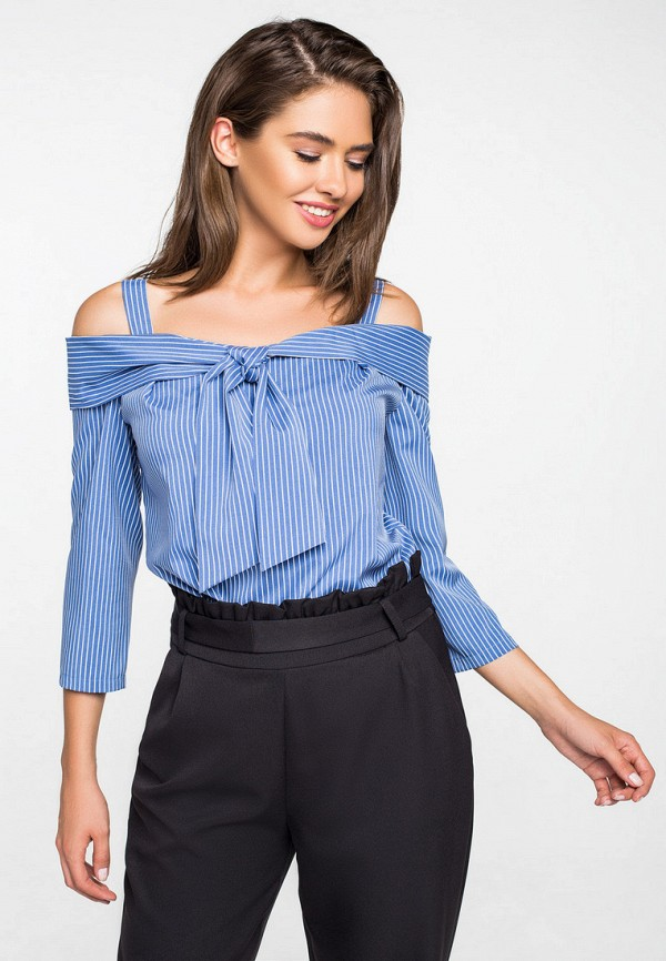 женская блузка itelle, голубая