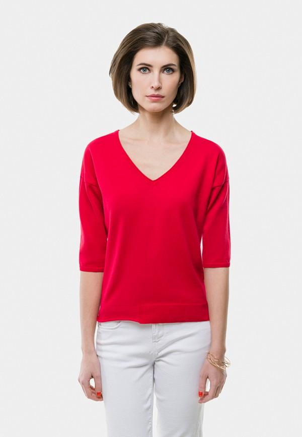 женский пуловер vera moni, красный