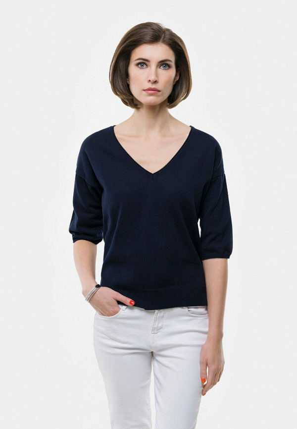 женский пуловер vera moni, синий