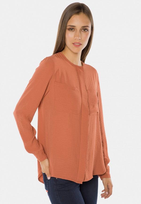 женская блузка mr520, оранжевая