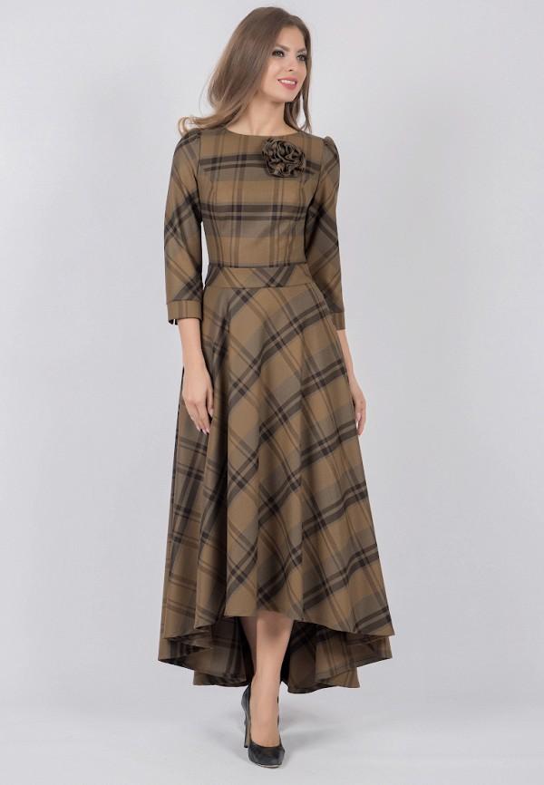 женское платье olivegrey, коричневое