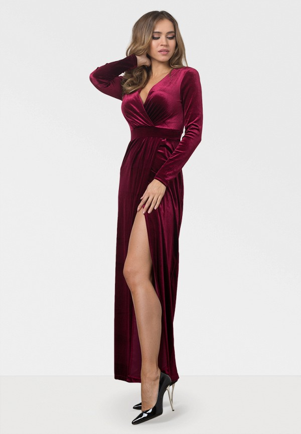 женское вечерние платье zerkala, бордовое