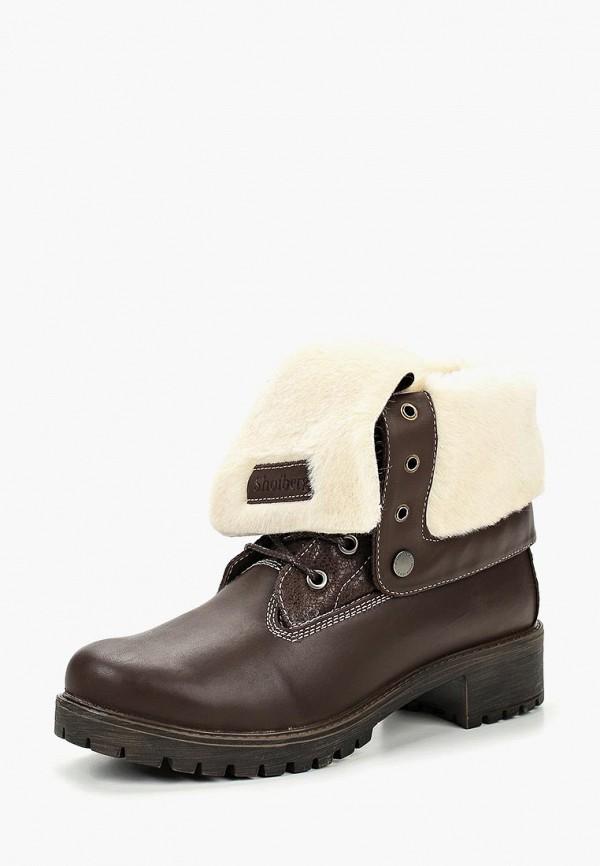 женские ботинки shoiberg, коричневые