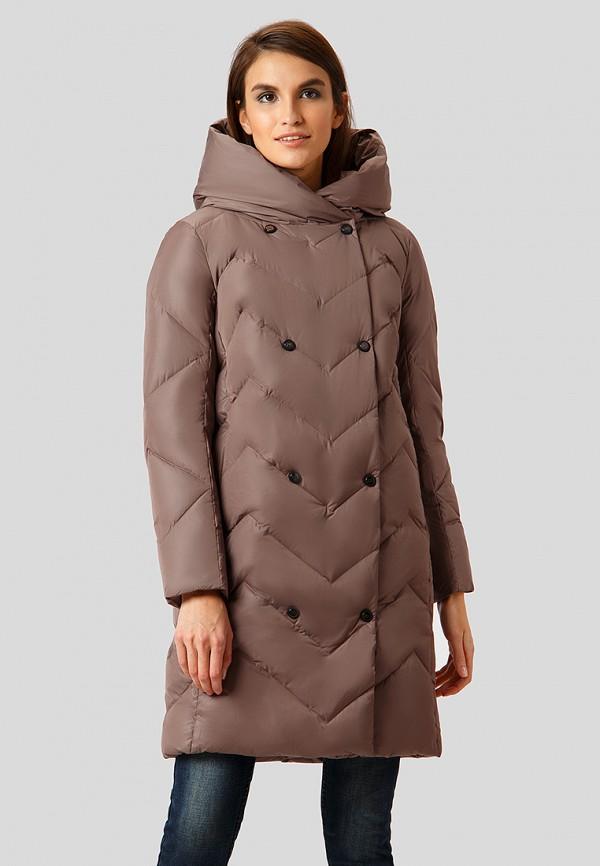 Купить Пуховик Finn Flare, mp002xw1h1ve, коричневый, Осень-зима 2018/2019