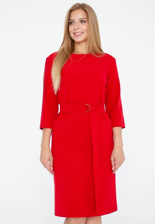женское платье миди eliseeva olesya, красное