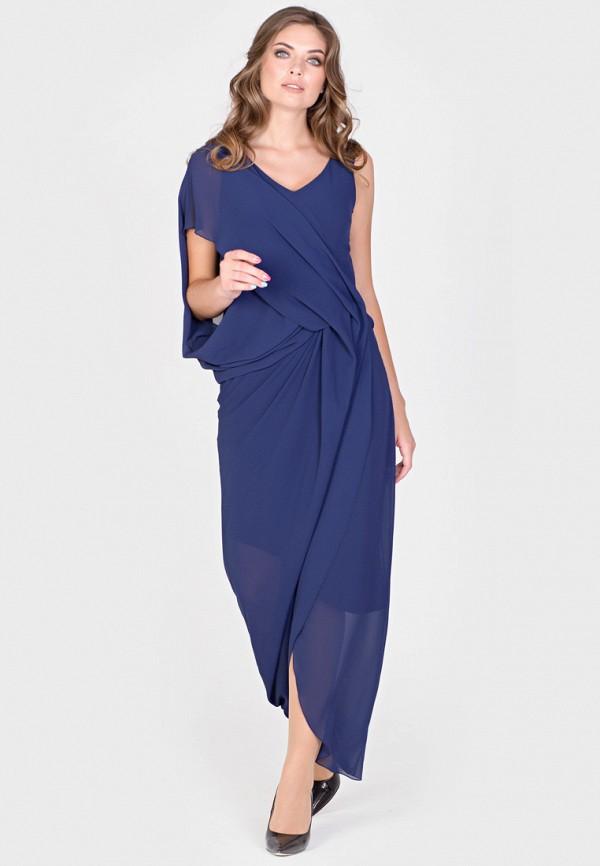 Фото 2 - Женское вечернее платье Filigrana синего цвета