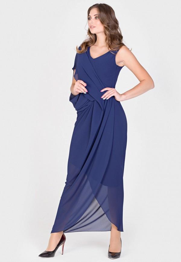 Фото 4 - Женское вечернее платье Filigrana синего цвета