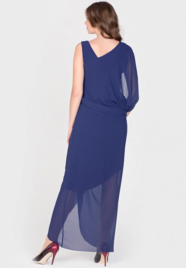 Фото 3 - Женское вечернее платье Filigrana синего цвета