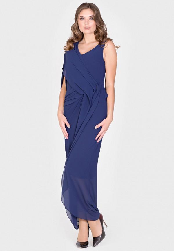 Фото 5 - Женское вечернее платье Filigrana синего цвета