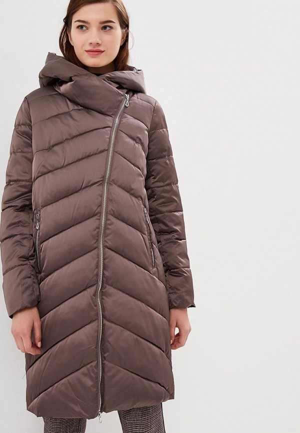 женская куртка tom farr, коричневая