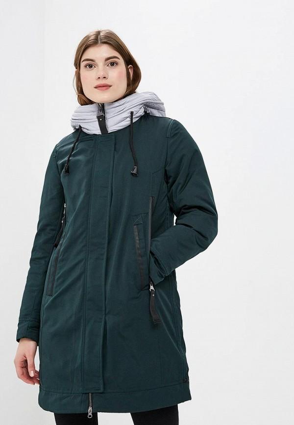 женская куртка tom farr, зеленая