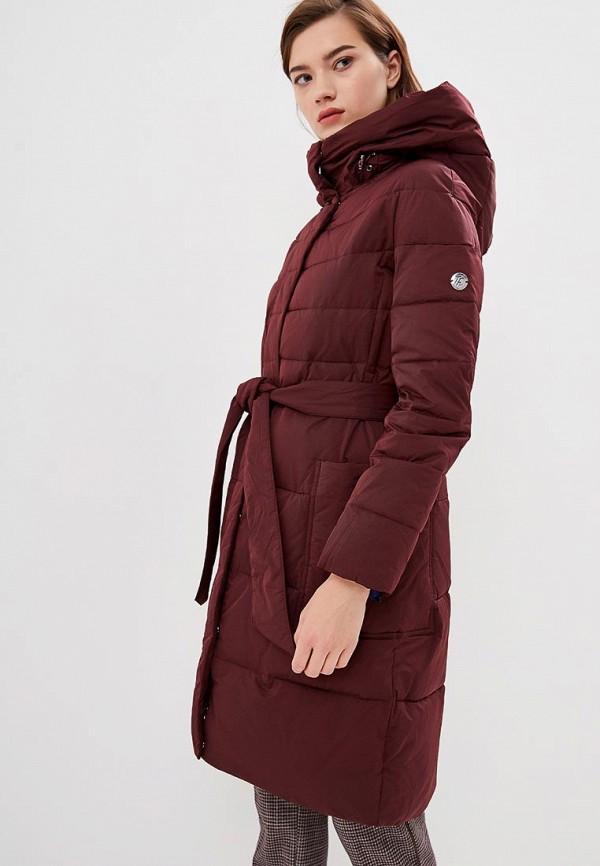 женская куртка tom farr, бордовая
