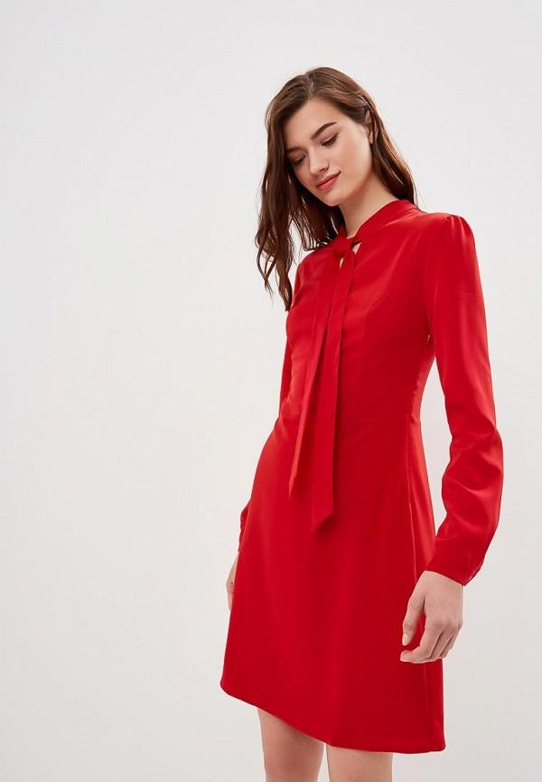 женское повседневные платье tom farr, красное