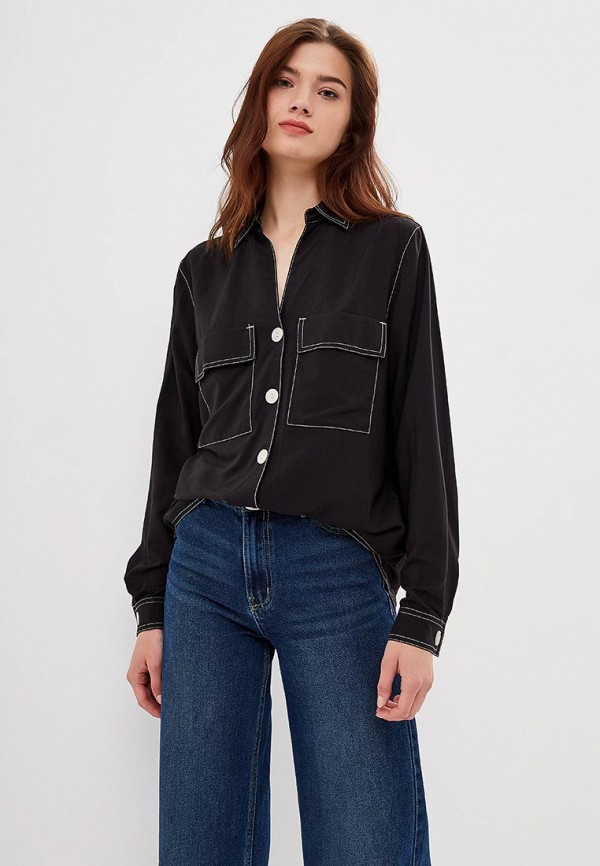 женская блузка tom farr, черная