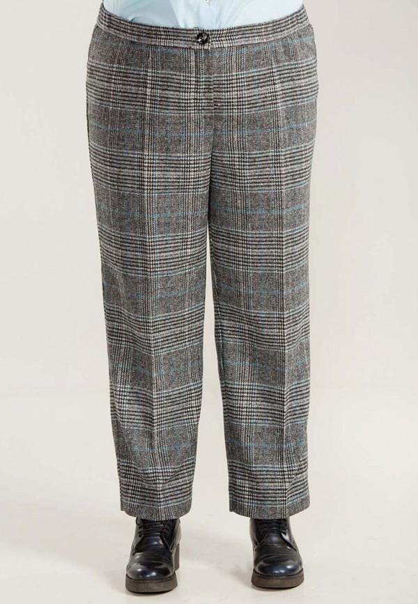 женские классические брюки luxury plus, серые