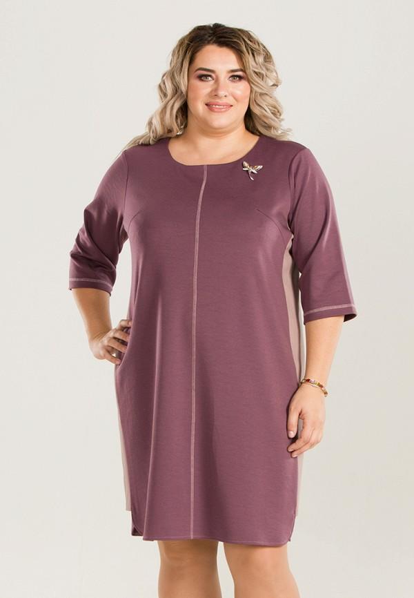 женское повседневные платье luxury plus, розовое