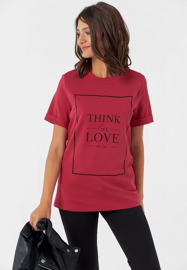 женская футболка fly, красная