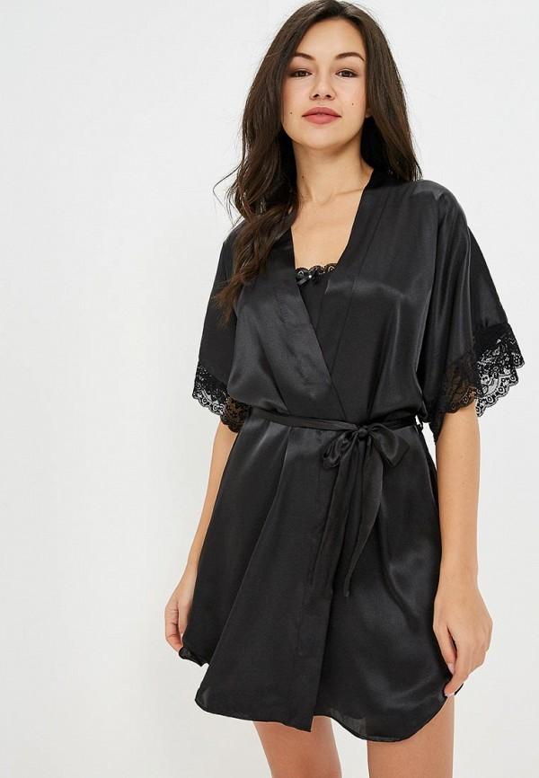 Купить Халат домашний Felisse, mp002xw1h2kq, черный, Осень-зима 2018/2019