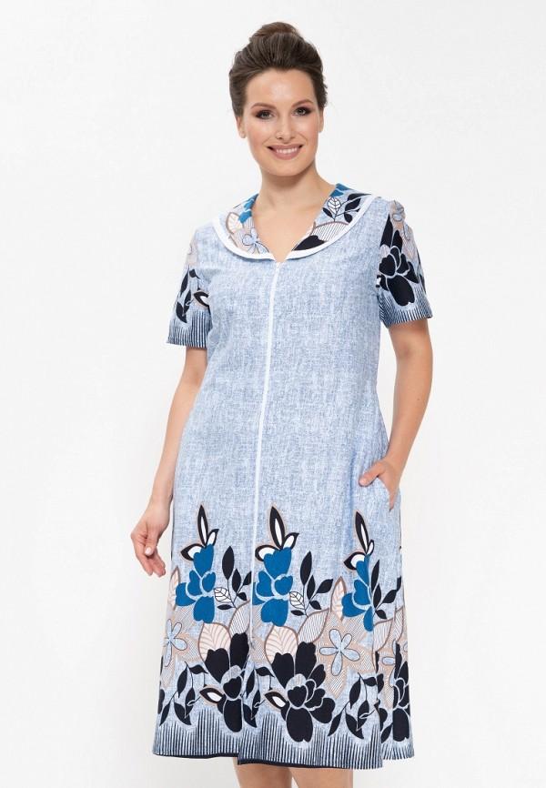 Купить Халат домашний Cleo, mp002xw1h2m2, голубой, Осень-зима 2018/2019