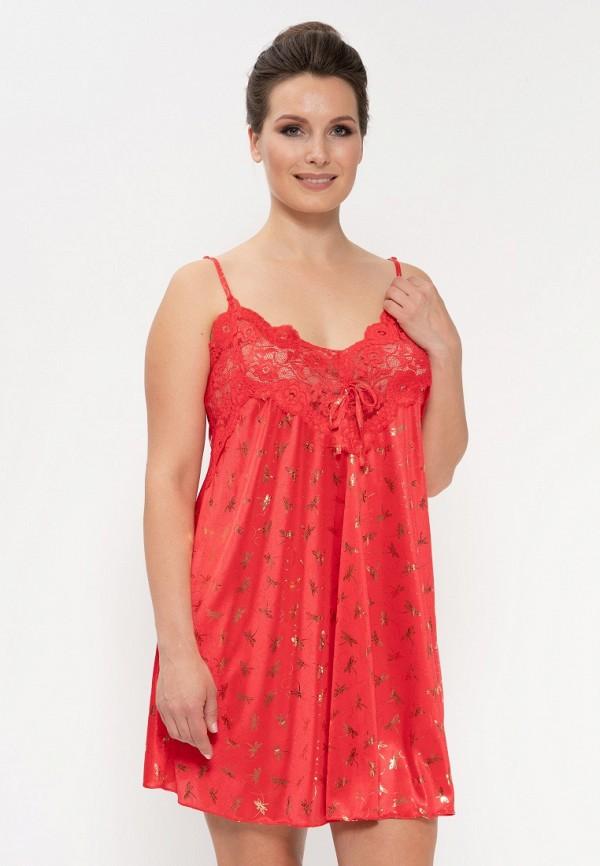 женские сорочка ночная cleo, красные
