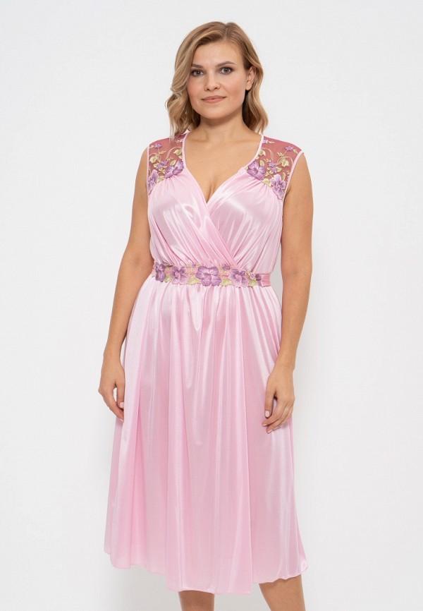 женские сорочка ночная cleo, розовые